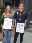 Aust Day Alicia Ewen and Jackie McLure Young and Cit of year.JPG