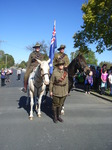Waler horses and Lighthorse unifromed 3 led the parade Morwell.JPG